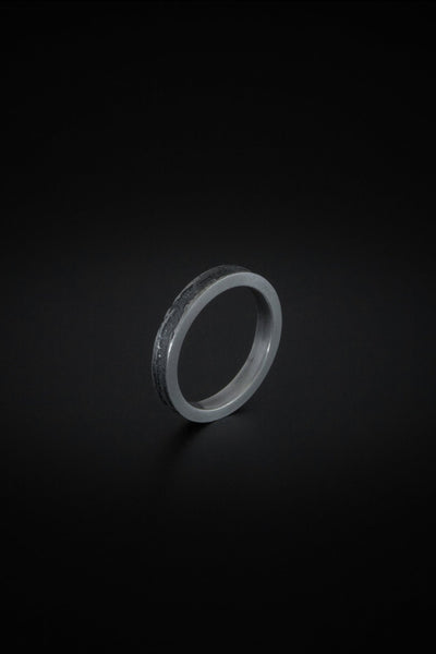 Shop emerging slow fashion unisex jewellery brand Møsaïs Silver Smoke Ring - Erebus