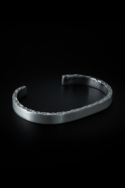 Shop emerging slow fashion unisex jewellery brand Møsaïs Silver Broken Bracelet M - Erebus