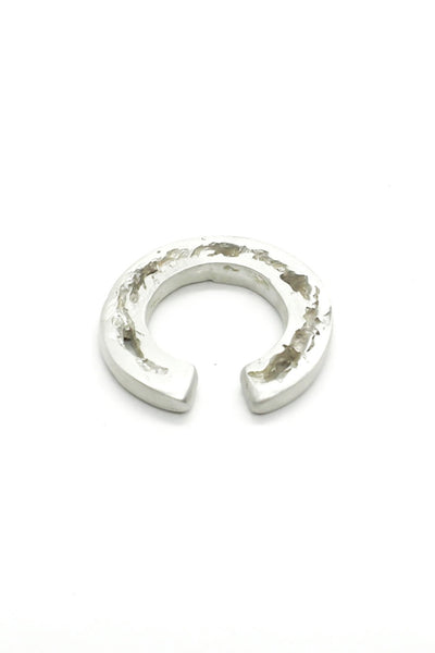 Shop Emerging Slow Fashion Avant-garde Jewellery Brand OSS Haus Broken Dreams Collection White Silver Dream Ear Cuff at Erebus