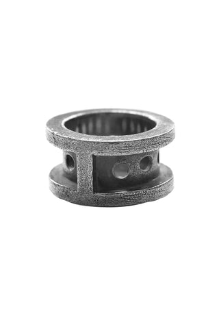 Shop Emerging Avant-garde Slow Fashion Unisex Brand Draug Jewellery Silver Base Camp Ring at Erebus
