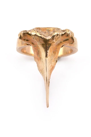 Emerging slow fashion jewellery brand Eilisain Bast Single Spine Ring in Bronze - Erebus - 1