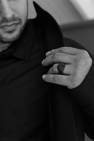 Shop Emerging Men's Jewellery Brand Bazelet Black Thor Ring at Erebus
