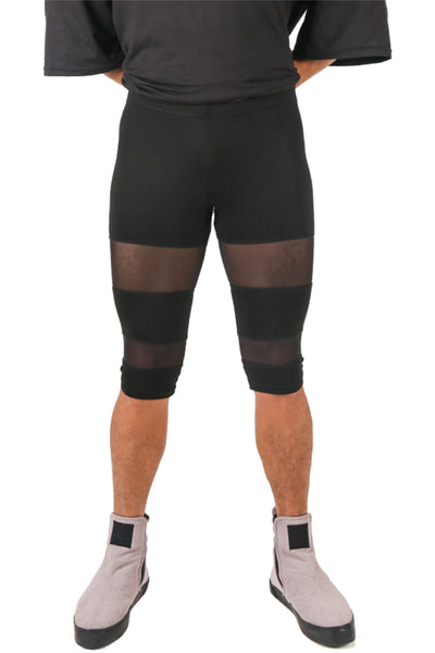 Shop Fair Fashion Genderless Avant-garde Basics Brand PULSE by Mark Baigent Collection Black Beetlejuice Cycling Shorts at Erebus