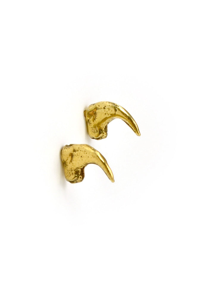 Emerging slow fashion jewellery brand Eilisain Brigid cat claw Earrings in Gold - Erebus - 1
