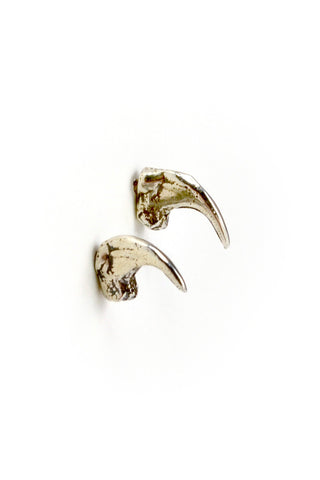 Shop emerging slow fashion jewellery brand Eilisain Brigid cat claw Earrings in Silver - Erebus - 1