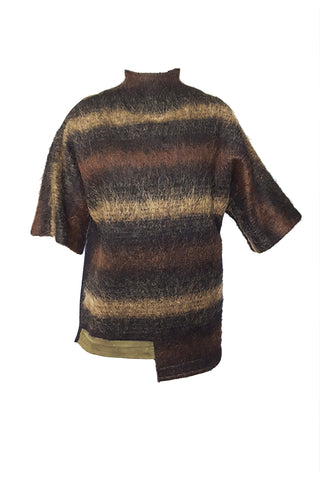Shop Emerging Conscious Avant-garde Gender-free Brand Supramorphous Natural Wool Sweater at Erebus