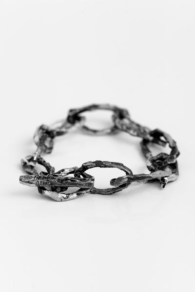 Shop Emerging Avant-garde Jewellery Brand OSS Cannibal Chain Bracelet at Erebus