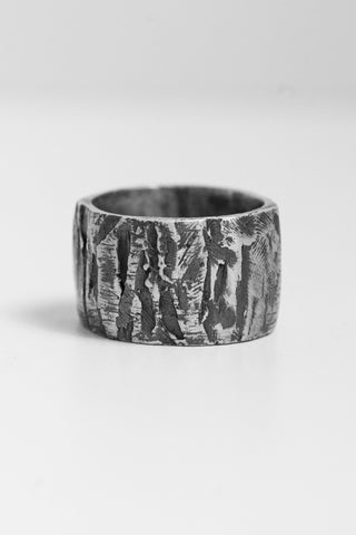 Shop Emerging Avant-garde Jewellery Brand OSS Cannibal L Band Ring at Erebus