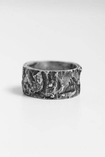 Shop Emerging Avant-garde Jewellery Brand OSS Cannibal M Band Ring at Erebus