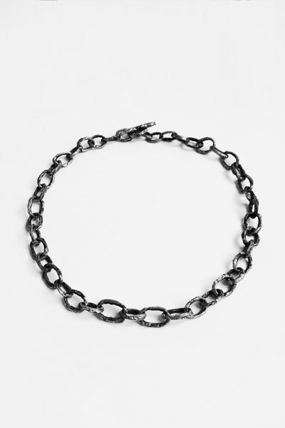 Shop Emerging Slow Fashion Avant-garde Jewellery Brand OSS Haus Silver Cannibal Small Chain at Erebus