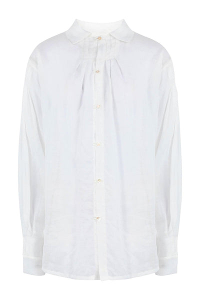 Shop Emerging Slow Fashion Conscious Conceptual Brand Cora Bellotto Zero Waste White Organic Cotton Centuries Shirt at Erebus