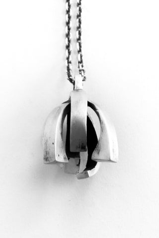 Shop Emerging Slow Fashion Avant-garde Jewellery Brand OSS Haus Awakening Collection Silver Centurion Necklace at Erebus