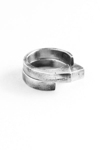 Shop Emerging Slow Fashion Avant-garde Jewellery Brand OSS Haus Awakening Collection Silver Centurion Ring at Erebus
