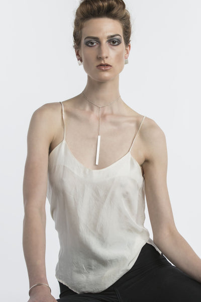 Shop Emerging Structural Jewellery Brand Conservation of Matter Skinny Pendant Y Necklace at Erebus