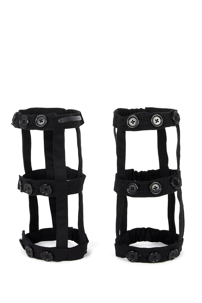 Shop Emerging Slow Fashion Avant-garde Unisex Brand Dhenze Kollektion 5 Black Calf Harness at Erebus