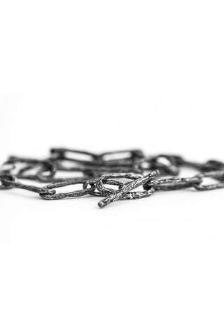 Shop avant-garde brands OSS x Army of Me collaboration Silver Chain at Erebus