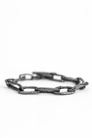 Shop avant-garde brands OSS x Army of Me collaboration Silver Chain Bracelet at Erebus