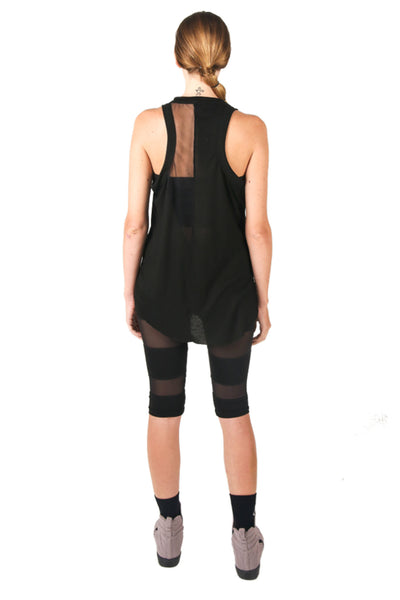 Shop Fair Fashion Genderless Avant-garde Basics Brand PULSE by Mark Baigent Collection Black Rib Viscose Clavicle Tank at Erebus