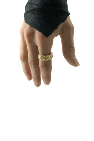 Shop Emerging Avant-garde Jewellery Brand Relics by Geo Bronze Coin Ring at Erebus