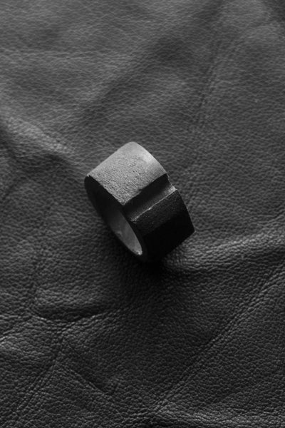 Shop Emerging Slow Fashion Avant-garde Brand Surface/Cast Cut Ring at Erebus