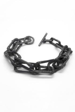 Shop Emerging Slow Fashion Avant-garde Jewellery Brand OSS Haus Broken Dreams Collection Black Silver Dream Chain Bracelet at Erebus
