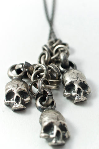 Shop Emerging Conscious Avant-garde Brand Black Rock Jewel Skull Necklace at Erebus
