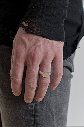 Shop Emerging Conscious Avant-garde Brand Black Rock Jewel Signet Ring at Erebus