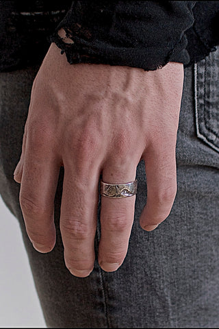 Shop Emerging Conscious Avant-garde Brand Black Rock Jewel Rock Band Ring at Erebus