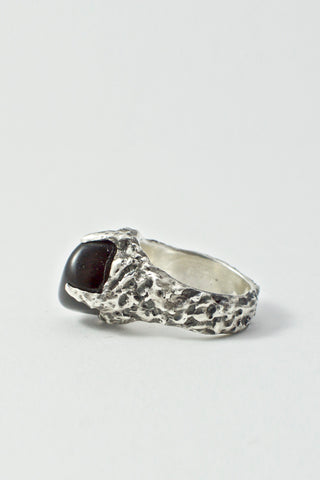 Shop Emerging Conscious Avant-garde Brand Black Rock Jewel Black Onyx Stone Ring at Erebus