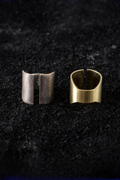 Shop Emerging Minimalist Avant-garde Jewellery Brand B KREB El C Ring at Erebus