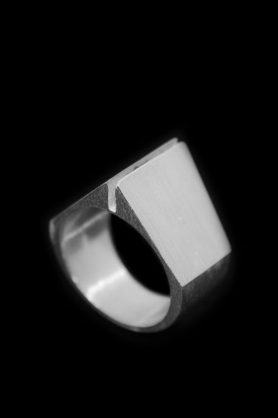 Shop Emerging Slow Fashion Avant-garde Jewellery Designer David Gaboriau Polished Silver Past Ring at Erebus