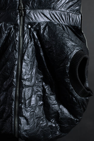 Shop Emerging Conceptual Dark Fashion Womenswear Brand DZHUS MISCONCEPT Collection Black Transformable Puffer Coat at Erebus