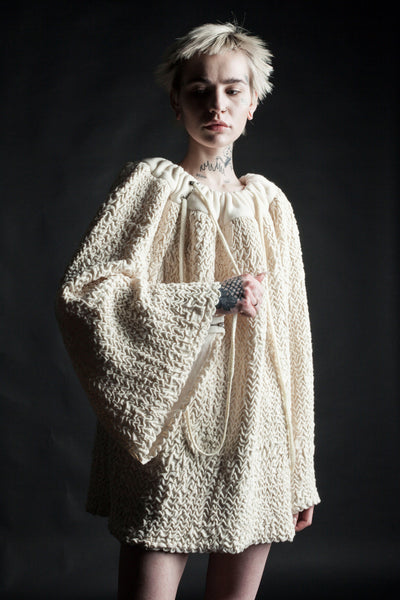 Shop Emerging Conceptual Dark Fashion Womenswear Brand DZHUS MISCONCEPT Collection Transformable Reuse Multiway Piece at Erebus