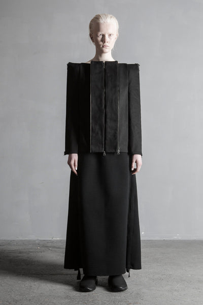 Shop Emerging Conceptual Womenswear Brand DZHUS Structural Escalation Transformer Jacket at Erebus