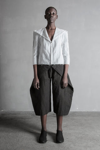 Shop Emerging Conceptual Womenswear Brand DZHUS Structural White Insight Shirt at Erebus