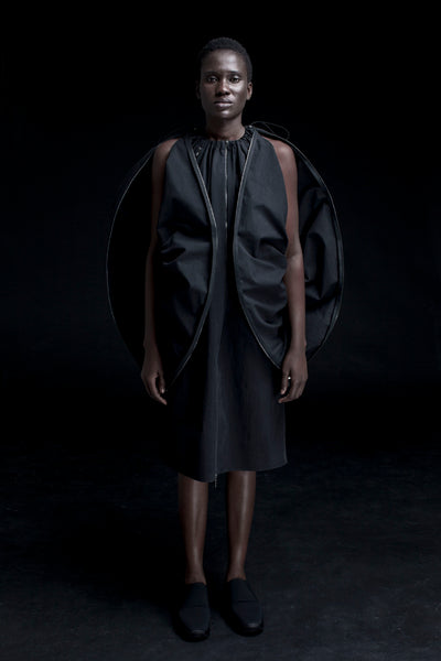 Shop Emerging Conceptual Dark Fashion Womenswear Brand DZHUS Corpus Collection Black Mutation Multiway Transformable Set at Erebus