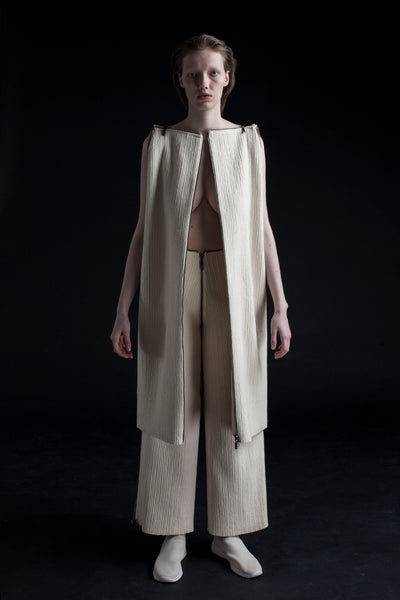 Shop Emerging Conceptual Dark Fashion Womenswear Brand DZHUS Corpus Collection Ivory Reproduction Transformable Set at Erebus