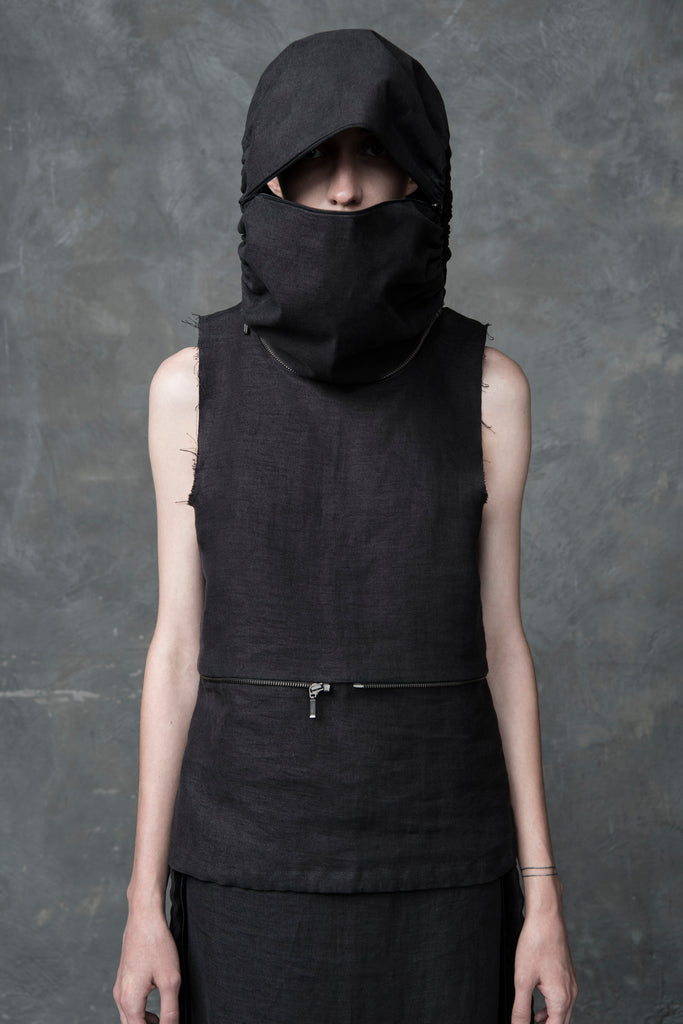 Shop Emerging Conscious Conceptual Womenswear Brand DZHUS Six in One Lituite Transformable Top and Bag at Erebus