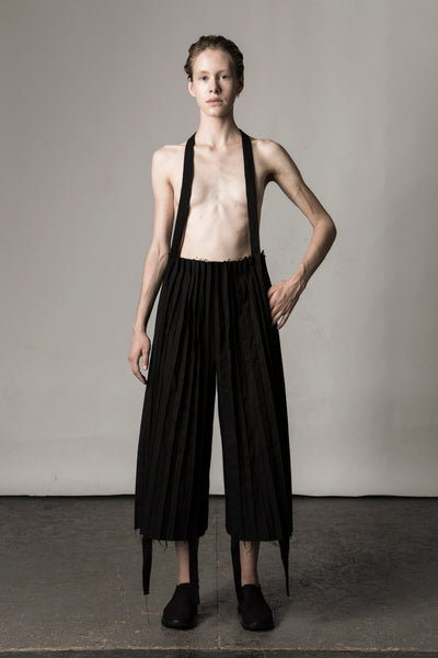 Shop Emerging Conceptual Dark Fashion Womenswear Brand DZHUS Sculptural Black Composition Culottes at Erebus