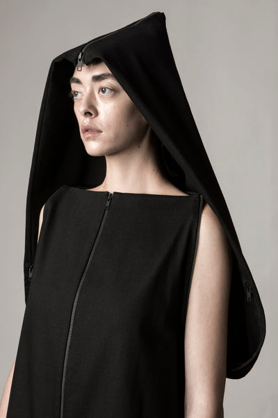 Shop Emerging Conceptual Dark Fashion Womenswear Brand DZHUS Sculptural Black Transformable 8-Way Set at Erebus