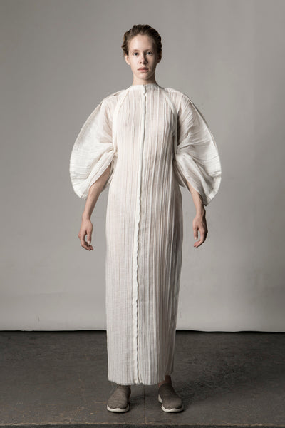 Shop Emerging Conceptual Dark Fashion Womenswear Brand DZHUS Sculptural Ivory Transformable Transfiguration Kimono at Erebus