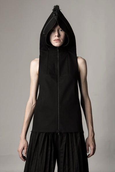 Shop Emerging Conceptual Dark Fashion Womenswear Brand DZHUS Sculptural Black Transformable Transmutation Jacket at Erebus