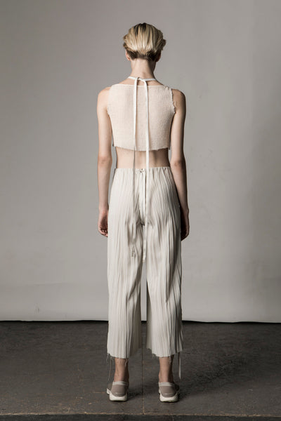 Shop Emerging Conceptual Dark Fashion Womenswear Brand DZHUS Sculptural Ivory 3-way Transformable Transition Piece at Erebus
