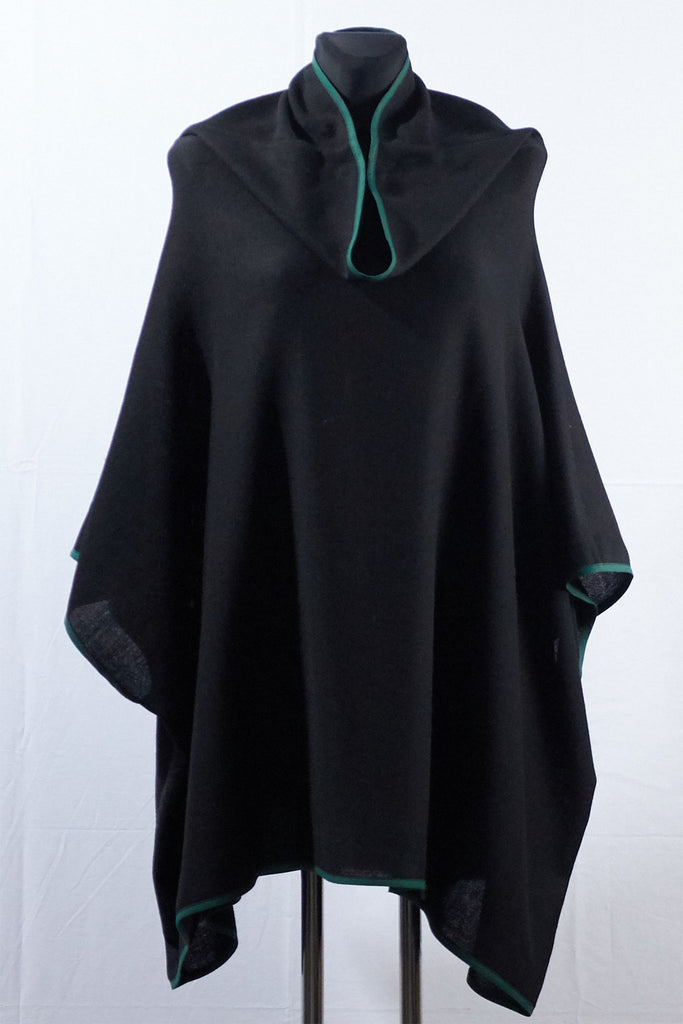Shop Emerging Dark Luxury Avant-garde Designer Pavlina Jauss Mythology Collection Black Daphne Cape at Erebus