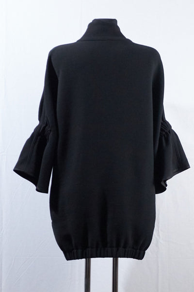 Shop Emerging Dark Luxury Avant-garde Designer Pavlina Jauss Mythology Collection Black Dionysis Top at Erebus