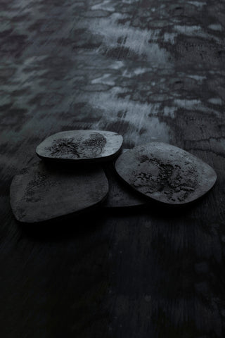 Shop Emerging Slow Fashion Brand Surface/Cast Black Concrete Dronema Coaster Set at Erebus