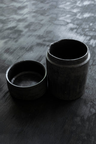 Shop Emerging Slow Fashion Brand Surface/Cast Black Concrete Dronema Jar at Erebus