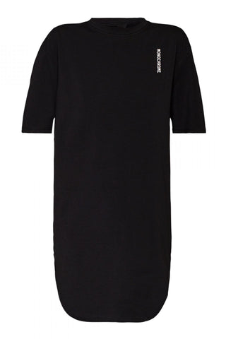 Shop Emerging Unisex Street Brand Monochrome Black AW19 Elongated Tee at Erebus