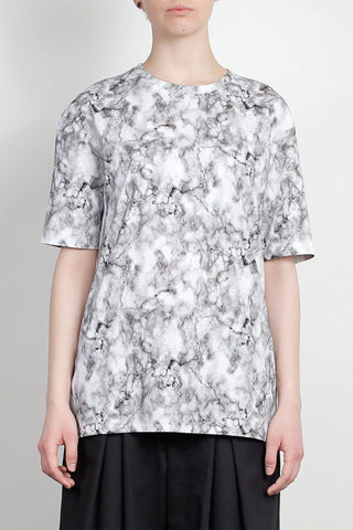 Shop Emerging Unisex Street Brand Monochrome Tie Dye Elongated Back T-Shirt at Erebus