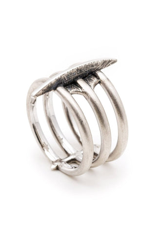 Emerging slow fashion jewellery brand Vika Mayzel Jewelry sterling silver Eve Ring - Erebus - 1